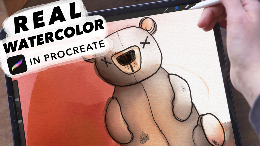 How to Paint a Watercolor Teddy Bear in Procreate 5