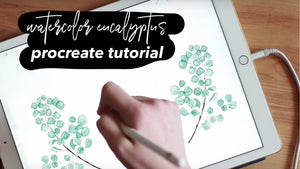 Watercolor Eucalyptus Tutorial for Procreate