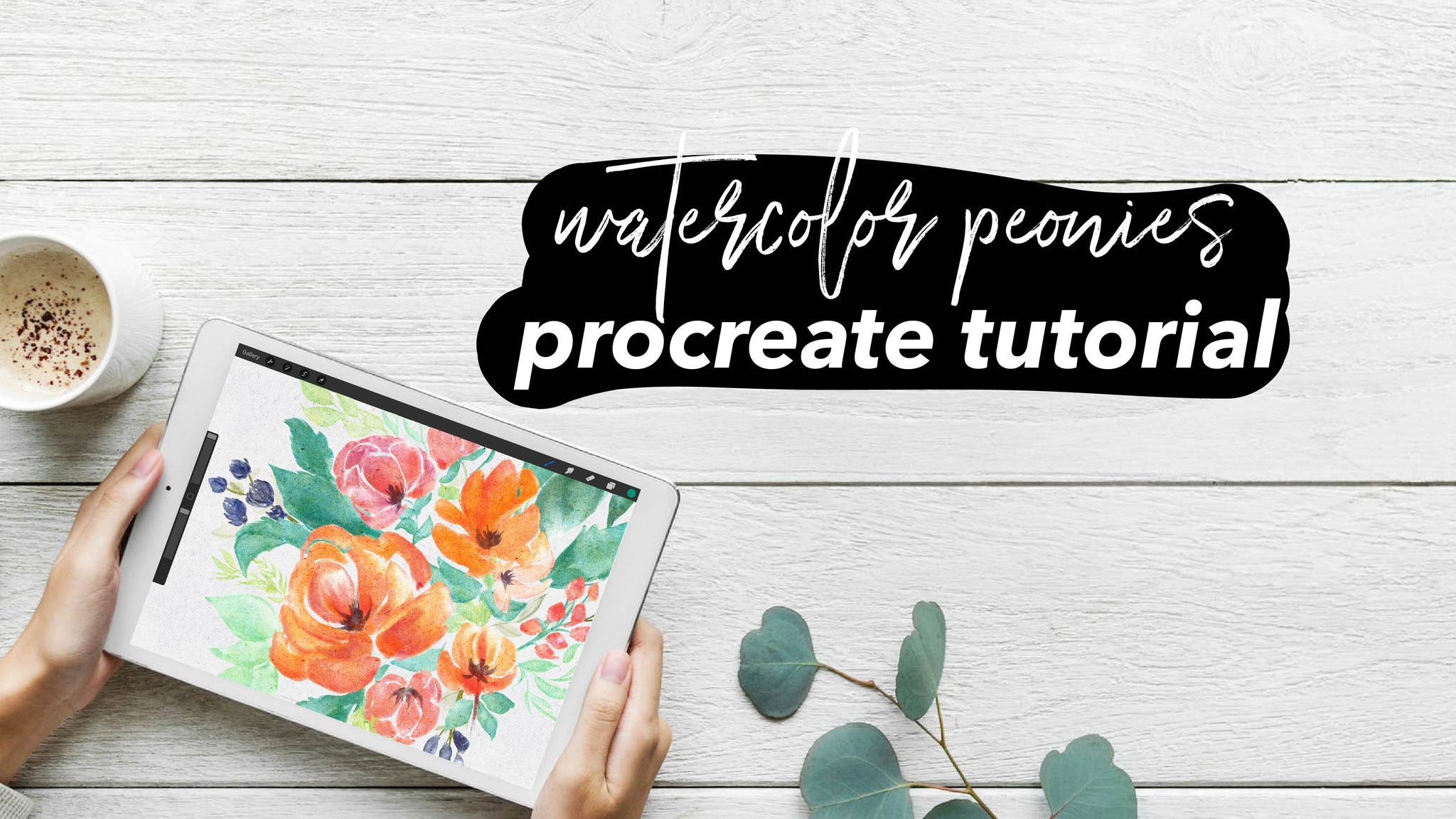 Watercolor Peonies Procreate Tutorial