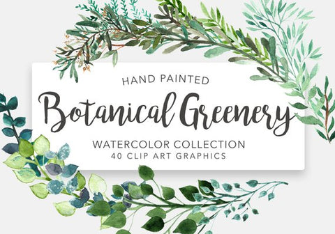 Botanical Greenery Clipart