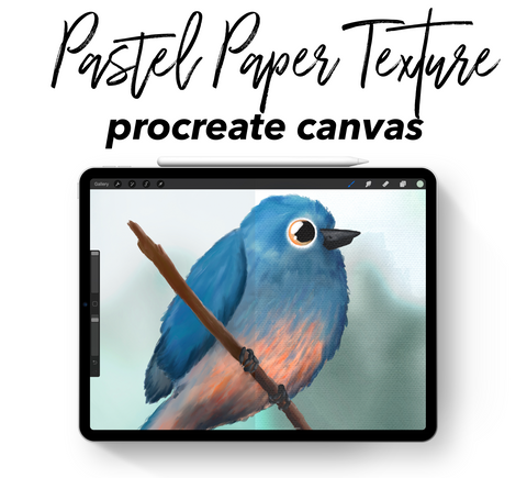 Procreate Canvas: Pastel Paper Texture