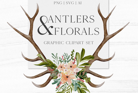 Antlers and Florals