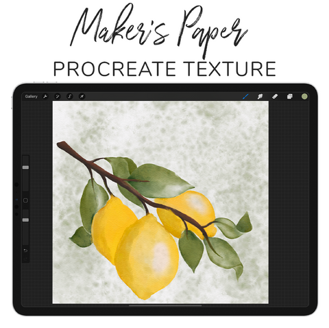 Maker's Paper: Procreate Texture Canvas by Wooly Pronto