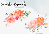 Sunset Floral Clipart