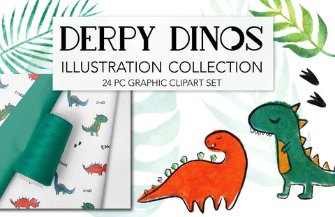 CUTE DINOSAUR CLIPART, commercial use graphics, kids clipart dino nursery decor, jurassic park, birthday baby shower illustration hand drawn