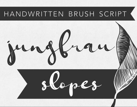 JUNGFRAU SLOPES Brush Script Font, Digital Download, Commercial Use, Modern Calligraphy OTF, hand drawn script, templett corjl use allowed