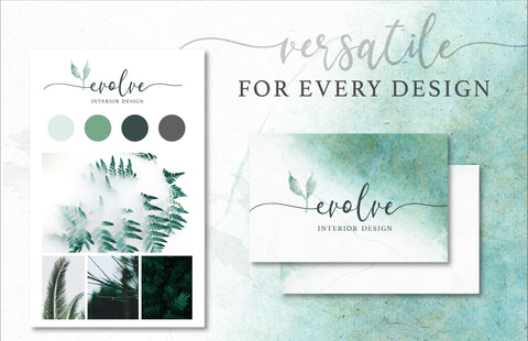 GREENERY & WATERCOLOR TEXTURES, commercial use, muted watercolor textures, eucalyptus graphics, wreaths, modern botanicals greenery leaves