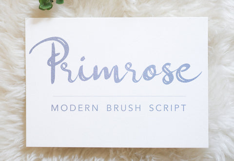 PRIMROSE Modern Brush Script Font, Digital Download, Commercial Use, Modern Calligraphy OTF, hand drawn script, templett corjl use allowed