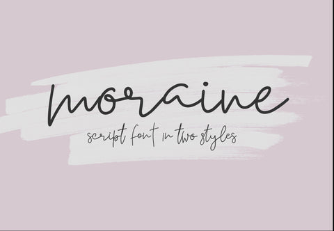 Moraine Modern Script Font Duo, Handwritten, Digital Download, Commercial Use Modern Calligraphy OTF, hand drawn script, templett, corjl use