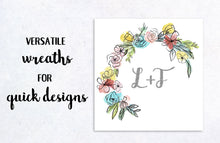 Load image into Gallery viewer, Linework Florals and Botanicals Clipart Collection