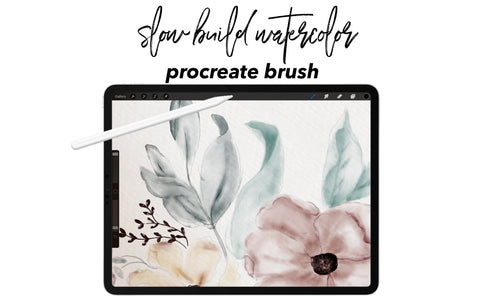 Slow Build Watercolor Brush for Procreate 5