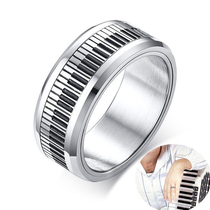 Men's Piano Player Ring