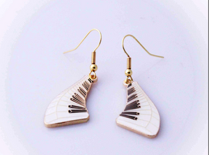 Floating Piano Keyboard Earrings