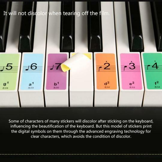 Piano Note Stickers