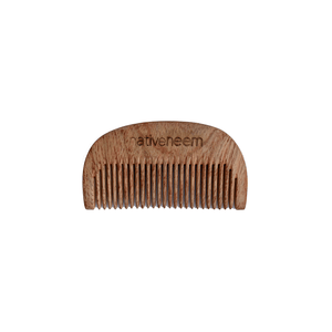 Wooden Neem Comb Narrow Tooth - Green Trading