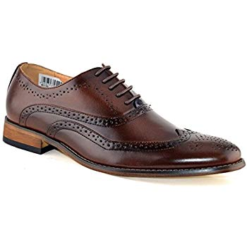 Goor Mens Brogue Shoes Brown