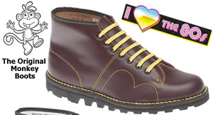 Grafters Monkey Boots - Wine coloured