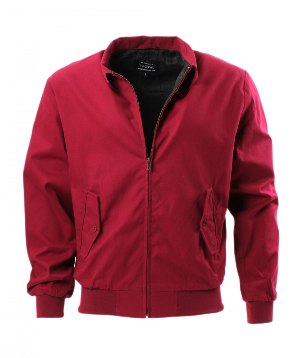 Modern Classic Harrington Jacket in Burgundy from Tootal