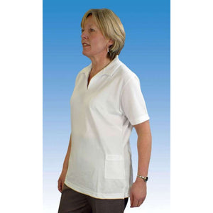 Emsmorn Ladies White Sportex Bowls Blouse