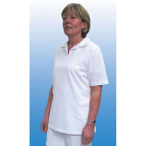 Emsmorn Ladies White Vee Bowls Blouse