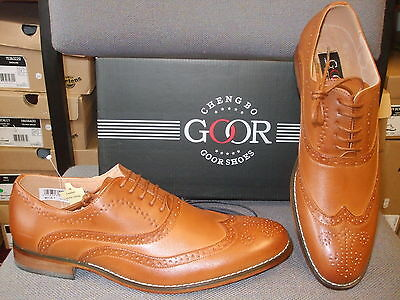 Goor Mens Brogue Shoes Tan