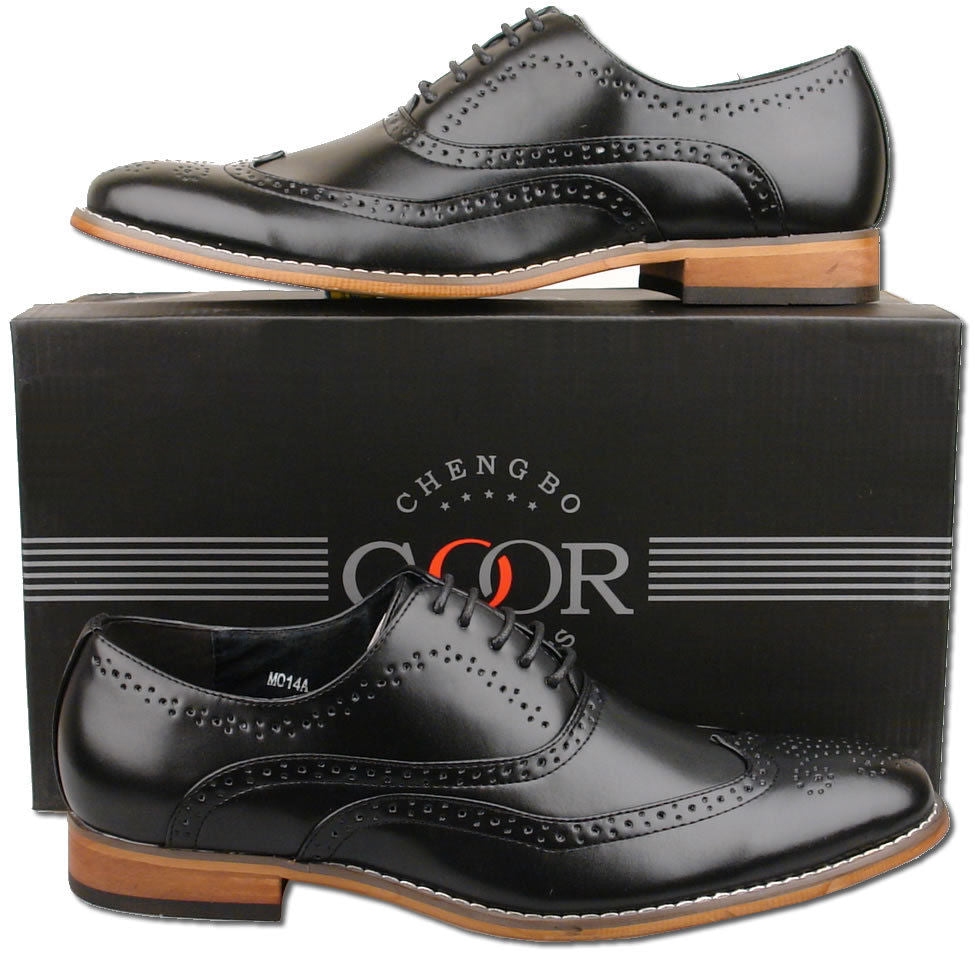 Mens Goor Brogue Shoes Black
