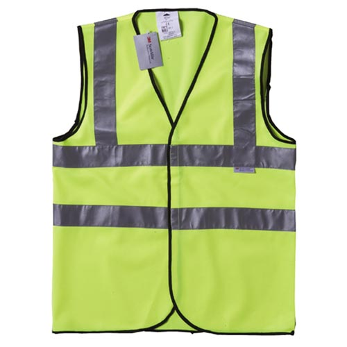 HI-VIS DOUBLE BAND VEST – VELCRO YELLOW VEST