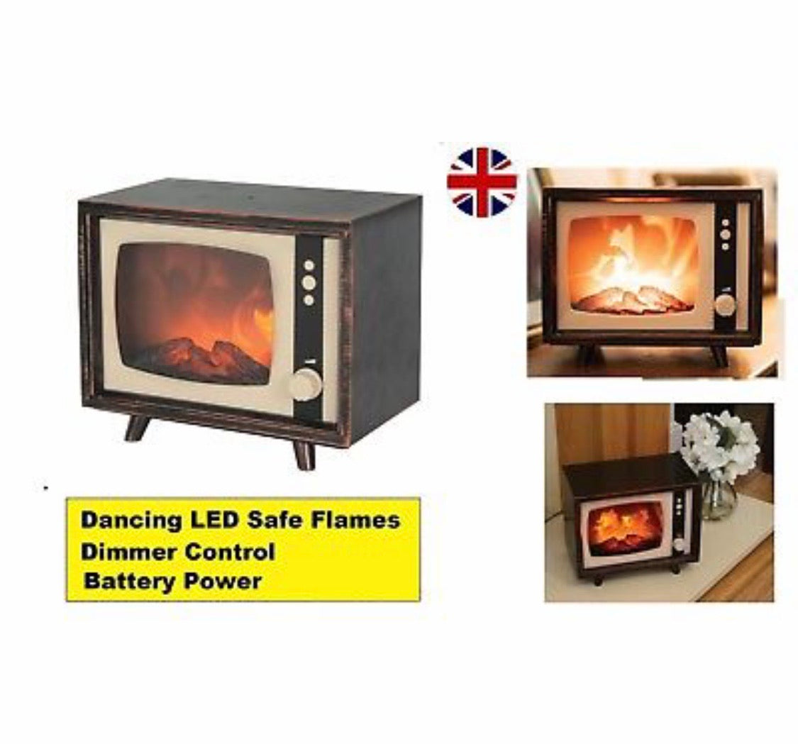 Flame Effect Fireplace Television
