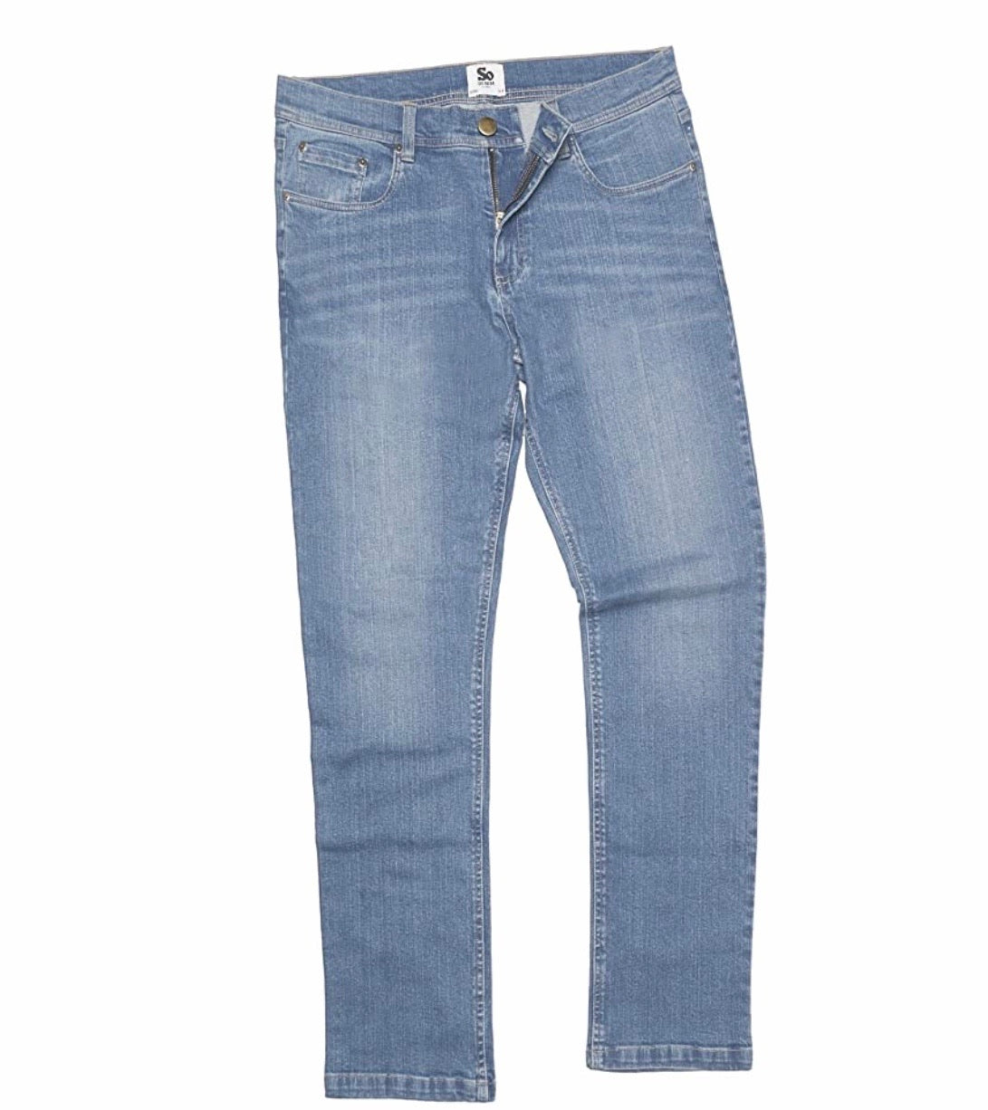 AWDis So Denim Mens Leo Straight Jeans