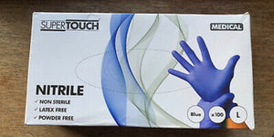 Supertouch 1261/1269/1267 Powder-Free Disposable Nitrile Gloves boxed 100