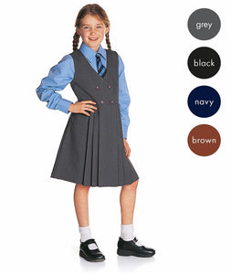 Girls Button-Front Pinafore