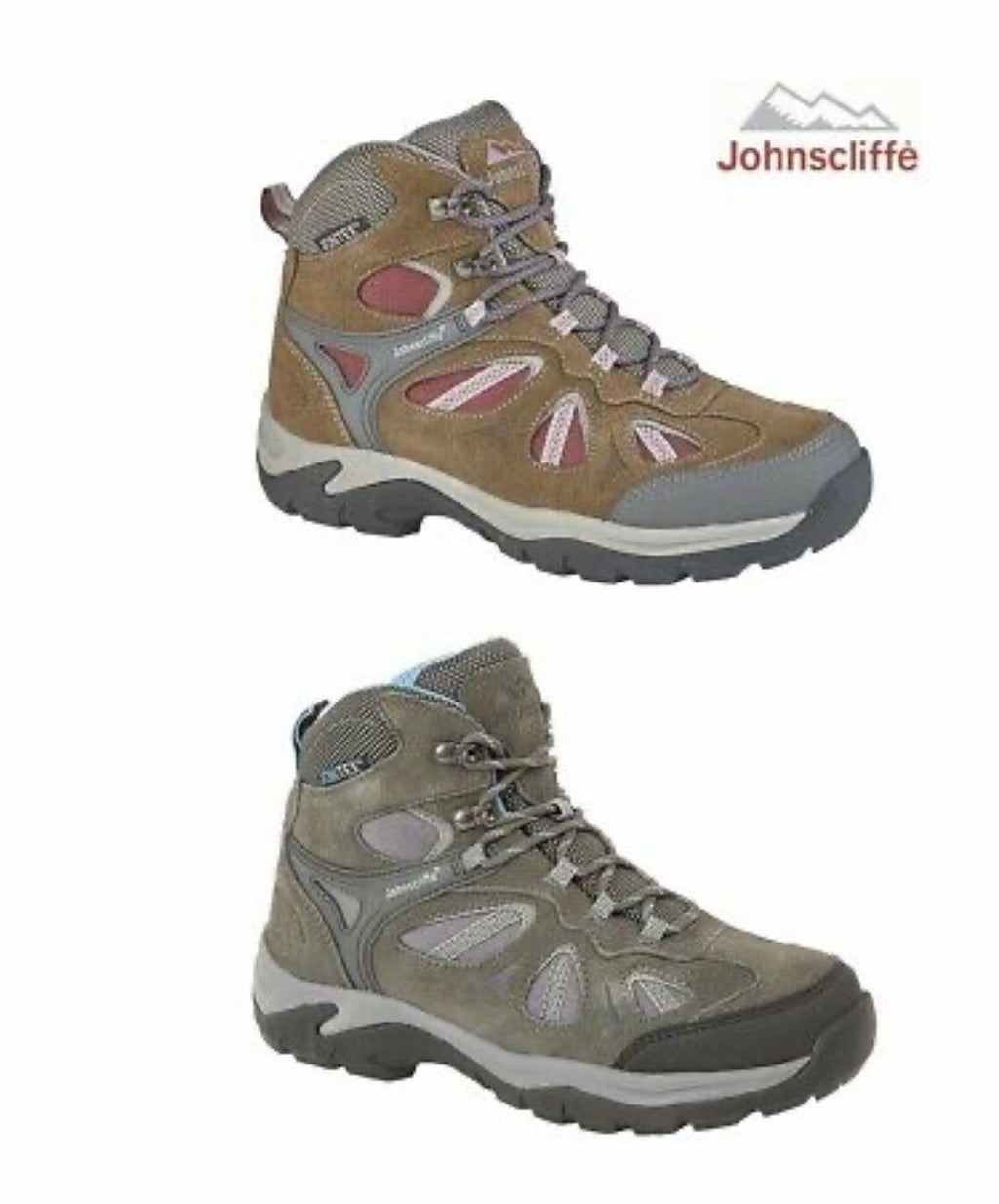 Ladies Hiking Walking Boots Trainers JOHNSCLIFFE® Adventure Suede
