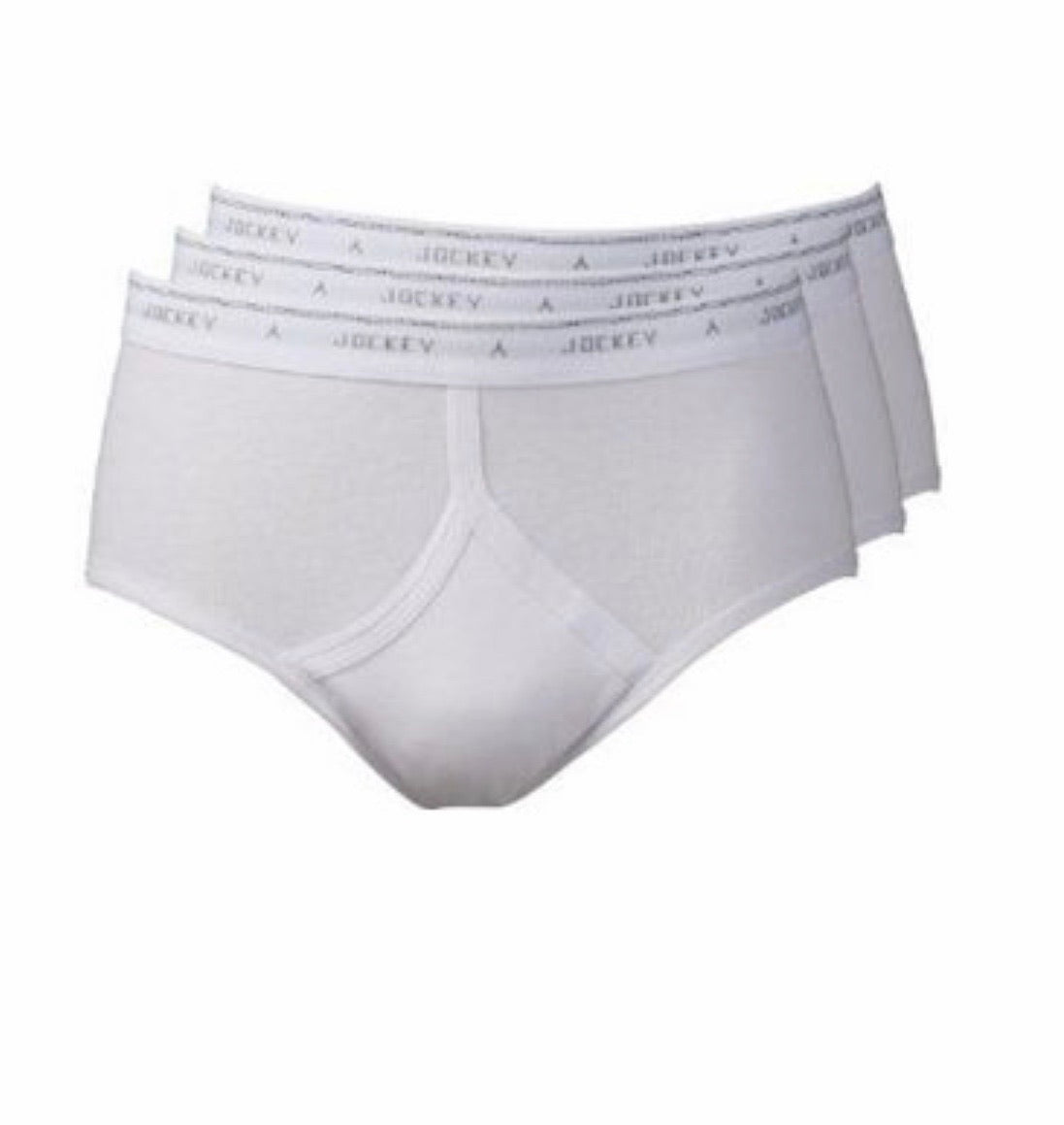 Jockey Classic Y-Front Briefs, Pack of 3,white/white/white