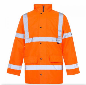 Supertouch High Visibility Parka Jacket Orange