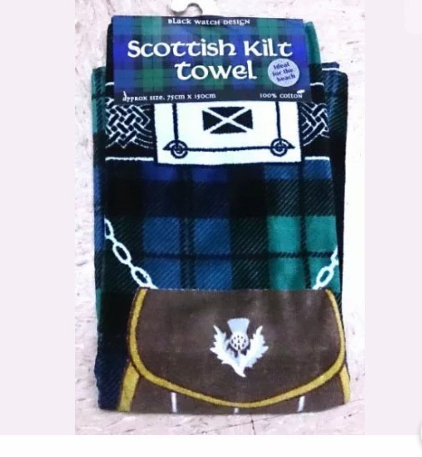 Black Watch Scottish Kilt Towel
