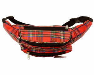Red Tartan Style Bum Bag by Thistle Products