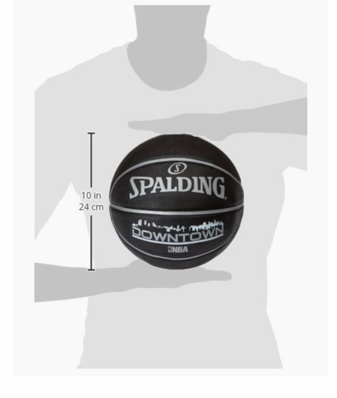 Spalding Downtown NBA black basketball size 7