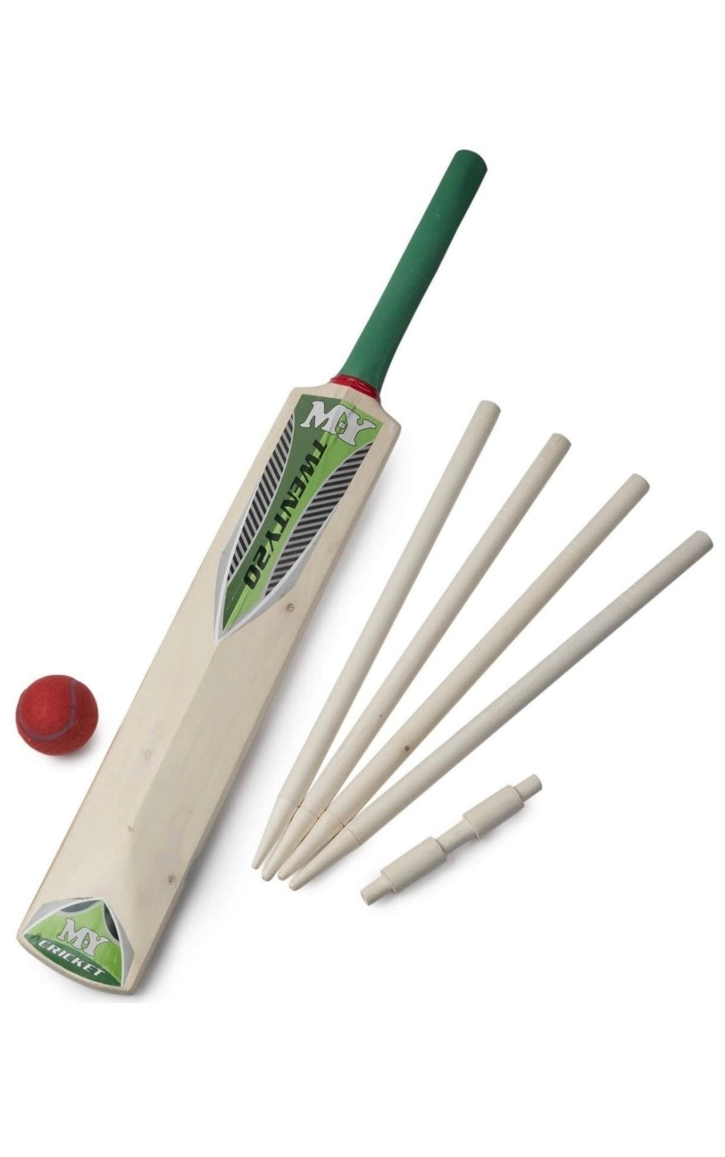 M.Y  Cricket Set In Mesh Carry Bag