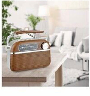 Lloytron Bluetooth Rechargeable Radio Vintage. Fm-am-mp3-bluetooth.