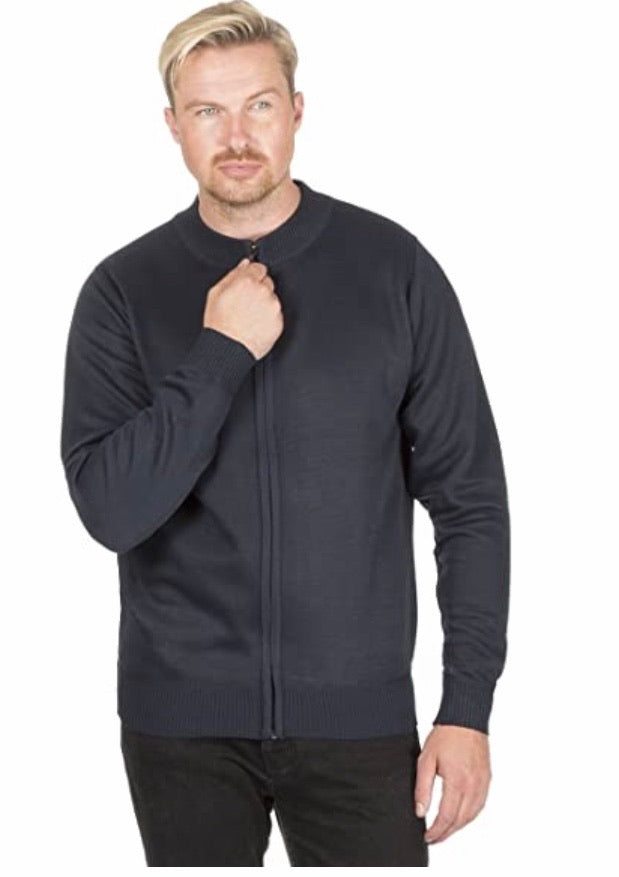 Pierre Roche Mens Knitted Full Zip Cardigan