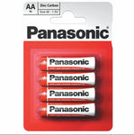 4 Pack AA Panasonic Zinc Power Carbon Batteries Genuine Super Quality Duty 1.5V FREE DELIVERY