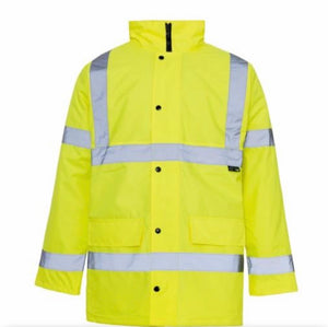 Supertouch High Visibility Parka Jacket Yellow