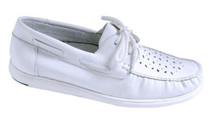 TAYLOR GREENZ LADIES CAMILLE LACE-UP SHOES - WHITE