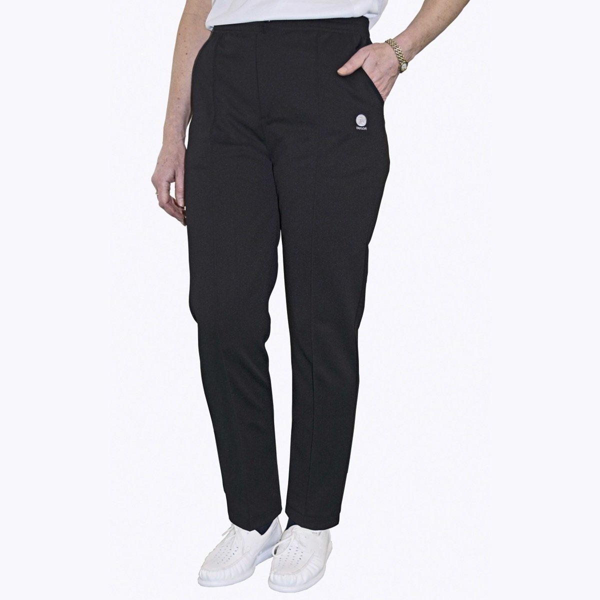 Taylor Bowls Gents Black Sports Trousers