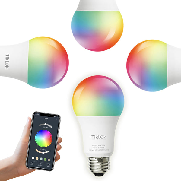 Smart Light Bulb Multicolor 4 Pack