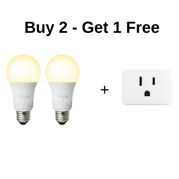 Smart Dimmable Light Bulb, Buy 2 Get Free Plug