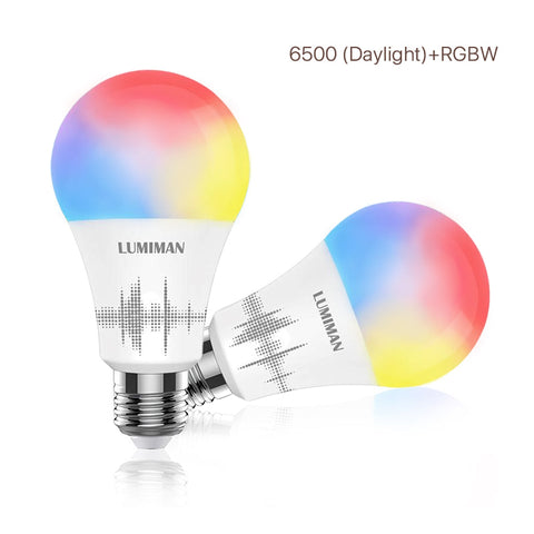 LUMIMAN Wifi Color Changing Smart LED Light Bulbs Voice Control A19 E26 2 Pack