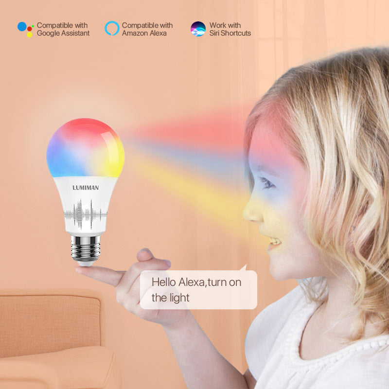 LUMIMAN Color Changing Smart Light Bulbs 4 Pack-LUMIMAN