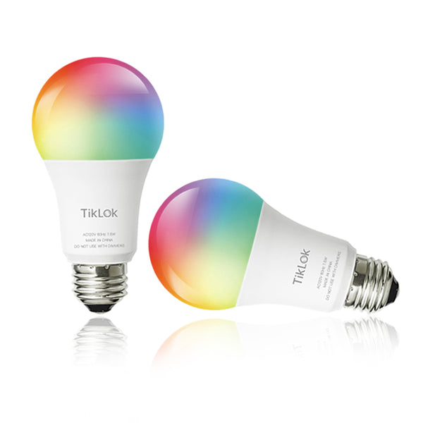 Wifi Light Bulb Multicolor 2 Pack
