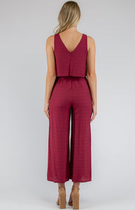 Rosy Wide Leg Jumpsuit